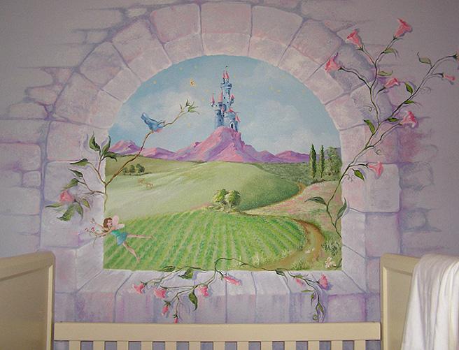 Nursery Wall Murals by Mural Artist Juli Simon in Orlando FL
