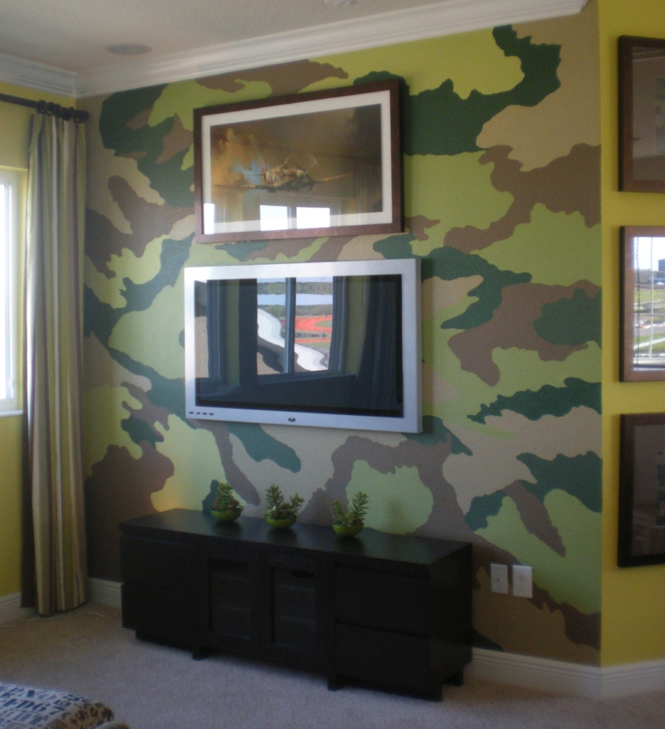 Camo wall art wall murals ideas camo wall art orlando model home murals artist in orlando lake mary fl amipublicfo Choice Image
