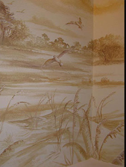 Sepia Scene In Powder Bath