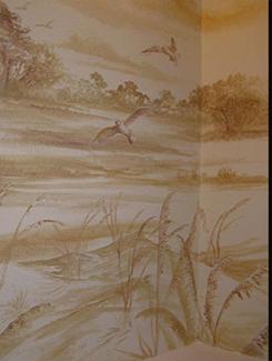 Sepia Scene In Powder Bath
