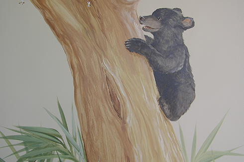 Bear Cub Detail on Hospital Mural