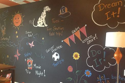 Bonus Room Chalk Wall