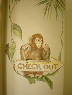 Chimp Helps Out on Hospital Mural