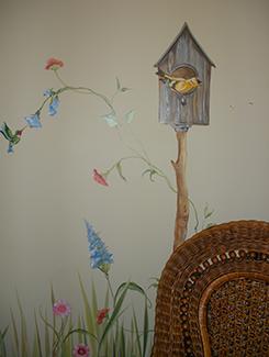 Garden and Bird House