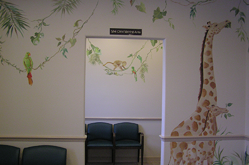 Giraffes In Waiting Room