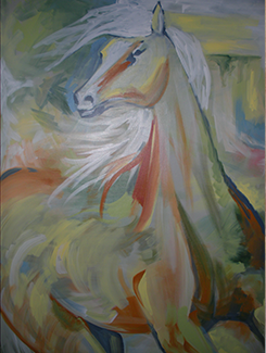 Large Abstract Horse