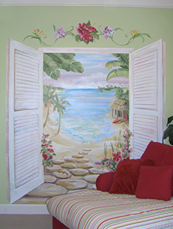 Tweens Beach Room Scene